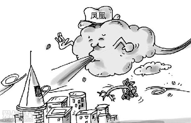 台风简笔画_台风图片