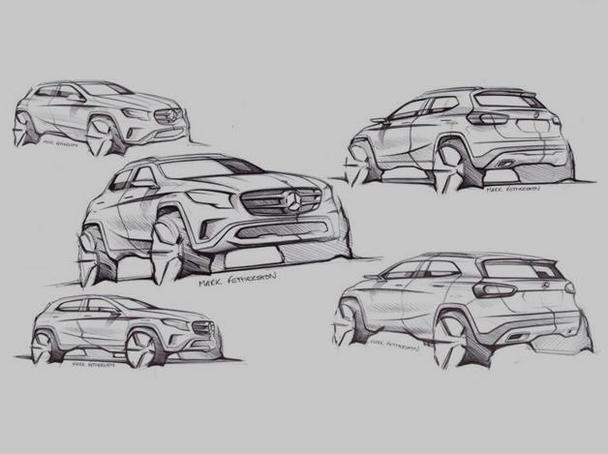 汽车概念图设计图手绘