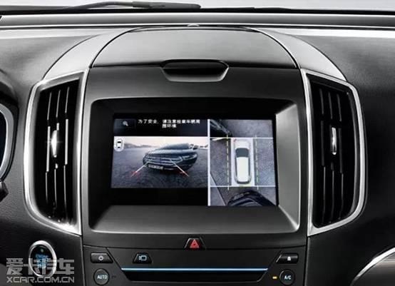 由360度摄像头控制模块通过拼接全车摄像头图像来提供车身俯视图.