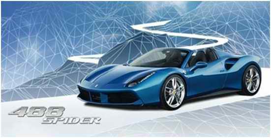 法拉利全新敞篷跑车488 Spider法兰克福车展全球首发