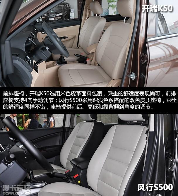 家用MPV的新选择 开瑞K50对比风行S500高清图片