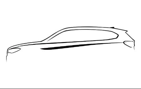 宝马车子手绘图