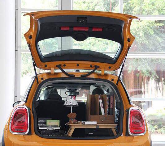 mini重置后备箱创意,自带风景的suv!