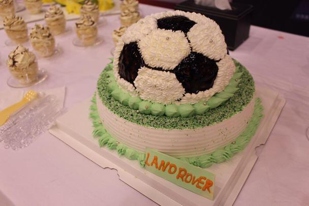 路虎特别定制欧洲杯足球蛋糕图片