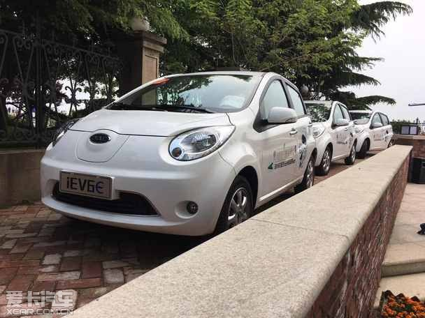 可爱 青岛试驾江淮iEV6E电动汽车高清图片