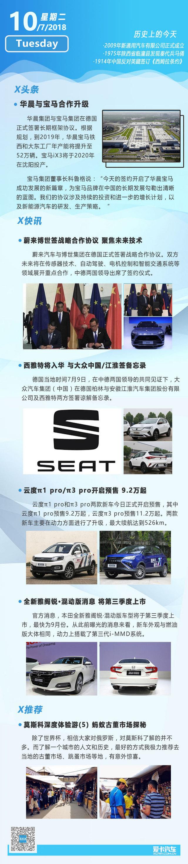 7月10日汽车早报 华晨与宝马深度合作