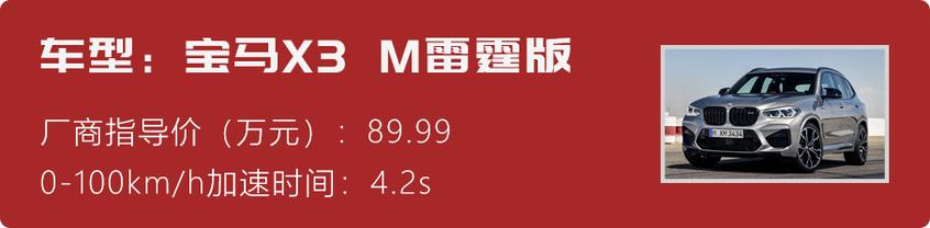 宝马X3 M雷霆版
