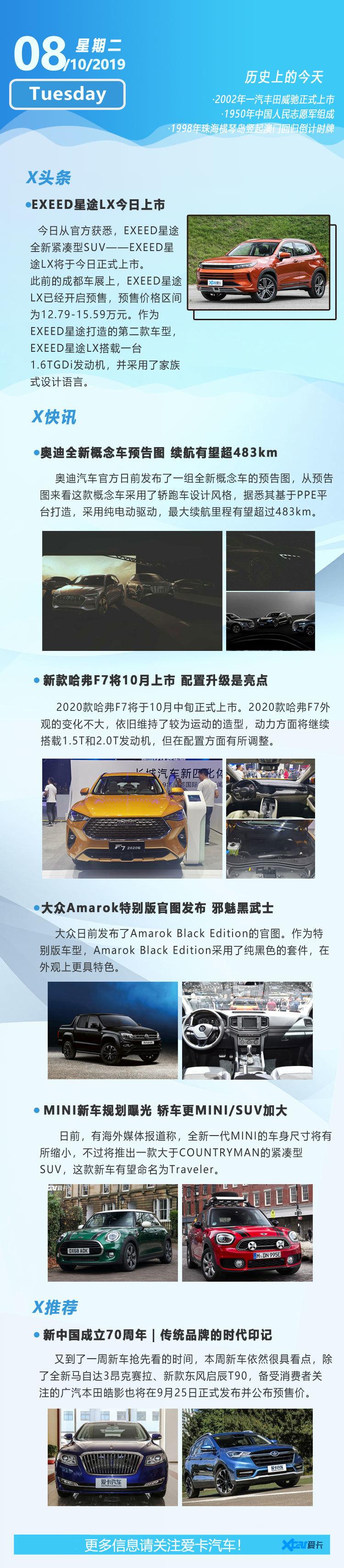 10月8日早报 奥迪全新概念车MINI规划