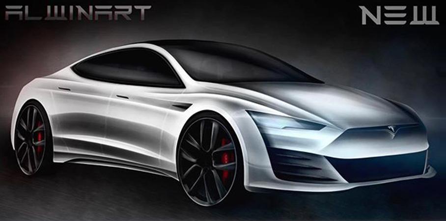 新一代特斯拉Model S渲染图
