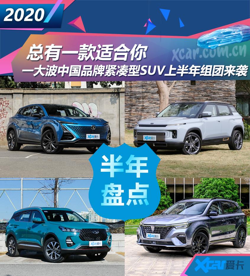上半年中国品牌紧凑型SUV