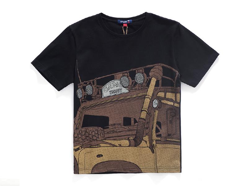 骆驼杯印花 情侣款t恤