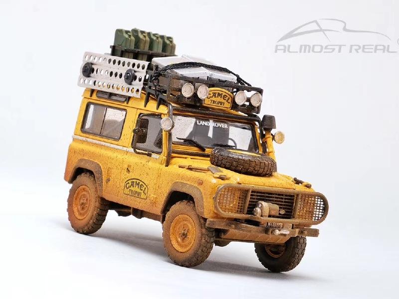 1/43路虎卫士90骆驼杯仿真汽车模型
