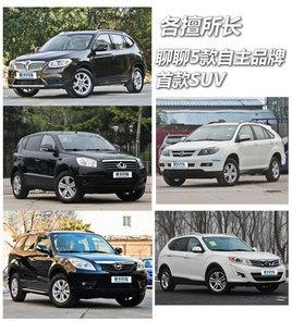 各擅所长  聊聊5款自主品牌的首款SUV
