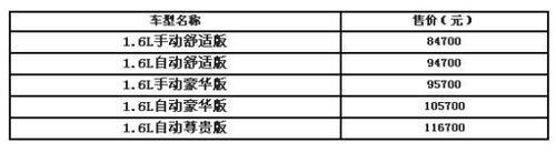 大连标致301正式上市售价8.47-11.67万