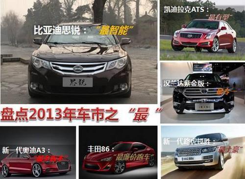 """最智能最有型 盘点2013年车市之""""最"""""""