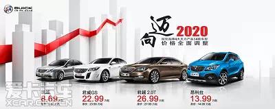 上海通用汽车主力产品车型价格下调