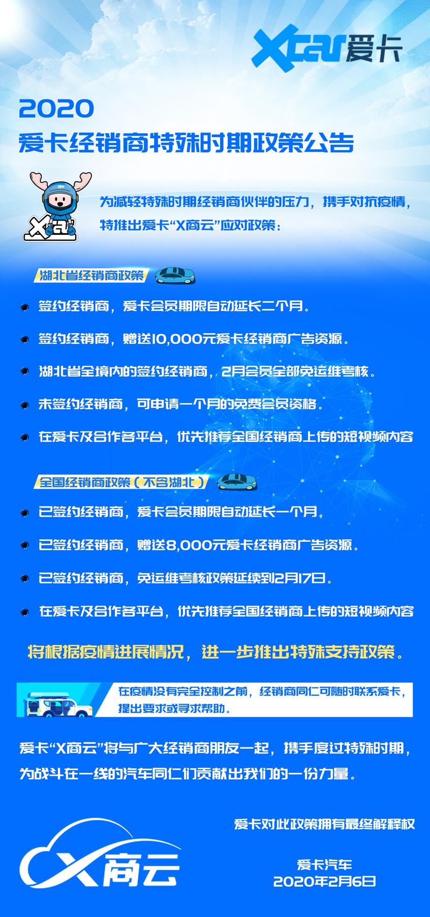 """减少经销商压力 爱卡推出""""X商云""""政策"""